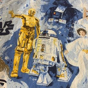 Star Wars flat twin sheet pottery barn excellent